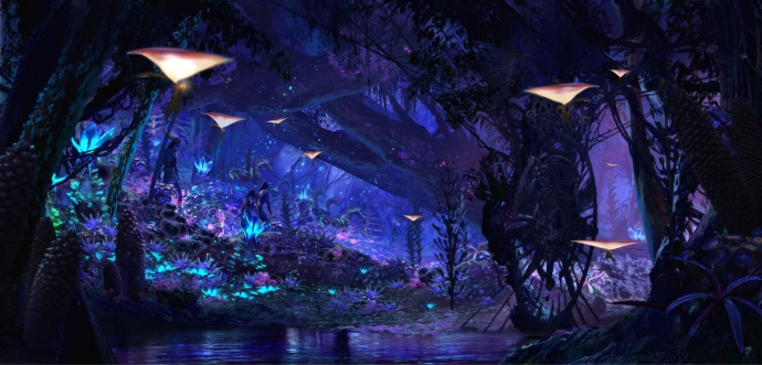 Atracción por el Río Navi en Pandora The World of Avatar. Foto Walt Disney World.