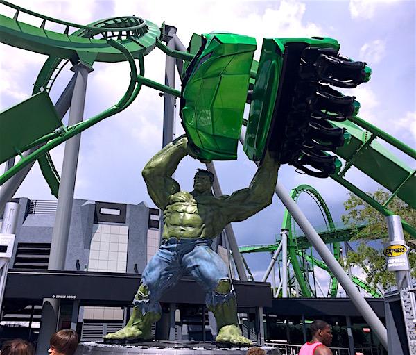 The Incredible Hulk en Islands of Adventure. Foto Gregorio Mayí