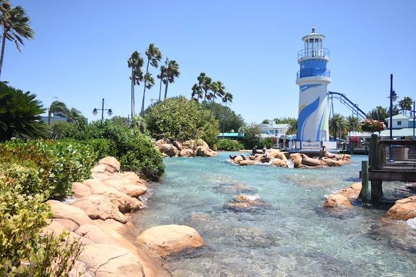 Entrada a SeaWorld Orlando. Foto Gregorio Mayi.