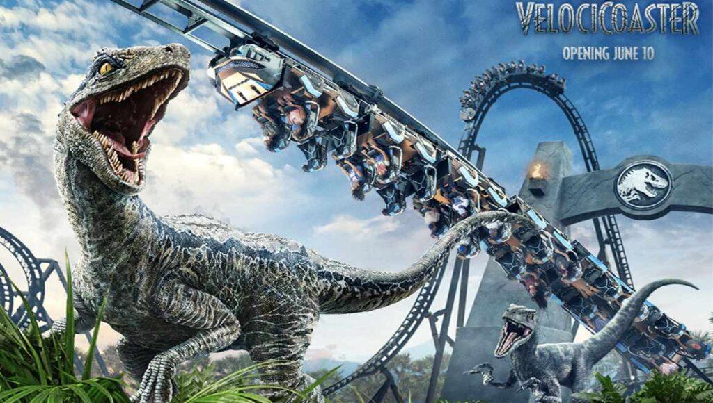 Jurassic World VelociCoaster. Imagen/Universal orlando Resort.