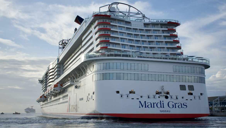 Bienvenida a Puerto Cañaveral al Carnival Mardi Gras. Foto/Carnival Cruise.