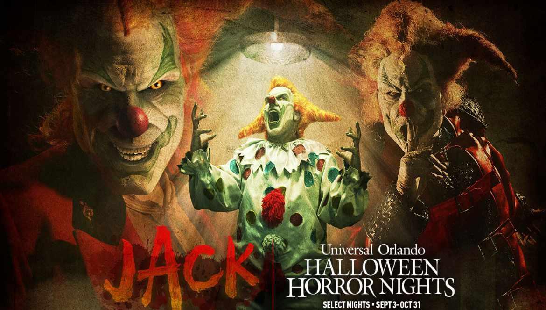 Jack el payaso (Jack the Clown), el ícono más conocido en la historia de las Halloween Horror Nights, regresa para las HHN 2021 ya que el evento conmemora su trigésimo aniversario.